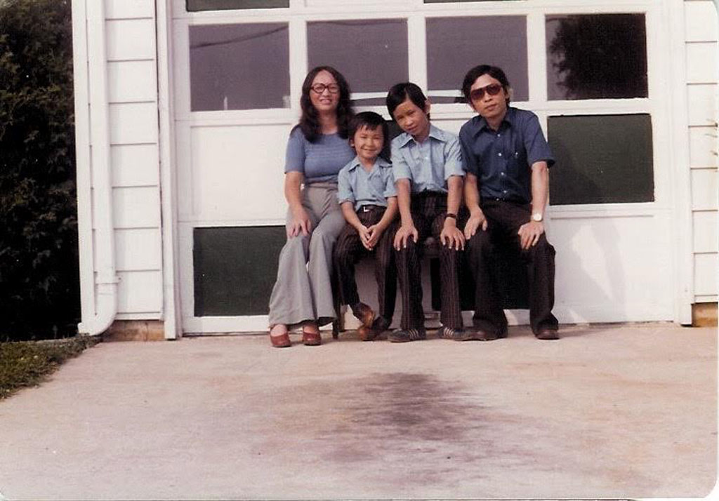 Viet Thanh Nguyen with his brother and parents in 1976, San Jose, California. (Photo courtesy: Viet Thanh Nguyen)