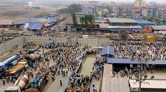 Bắc Ninh: Bạo động chưa rõ nguyên do tại nhà máy của Samsung