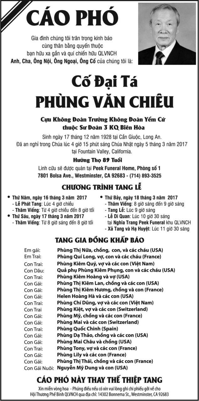 Cố đại tá Phùng Văn Chiêu