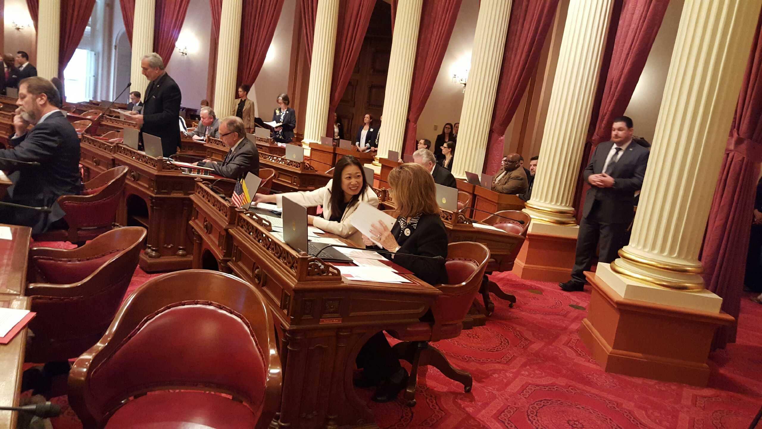 Biểu tình trước Quốc Hội California ủng hộ TNS Janet Nguyễn