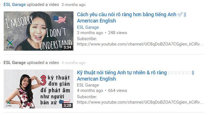 'ESL Garage,' dạy tiếng Anh miễn phí cho người Việt trên YouTube