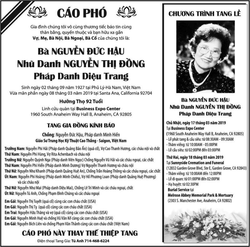 Bà Nguyễn Đức Hậu