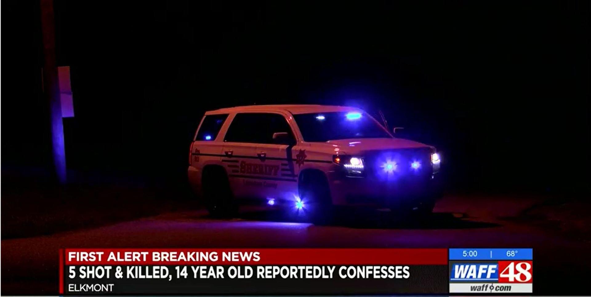 Thiếu niên 14 tuổi ở Alabama bắn chết cả 5 người trong gia đình