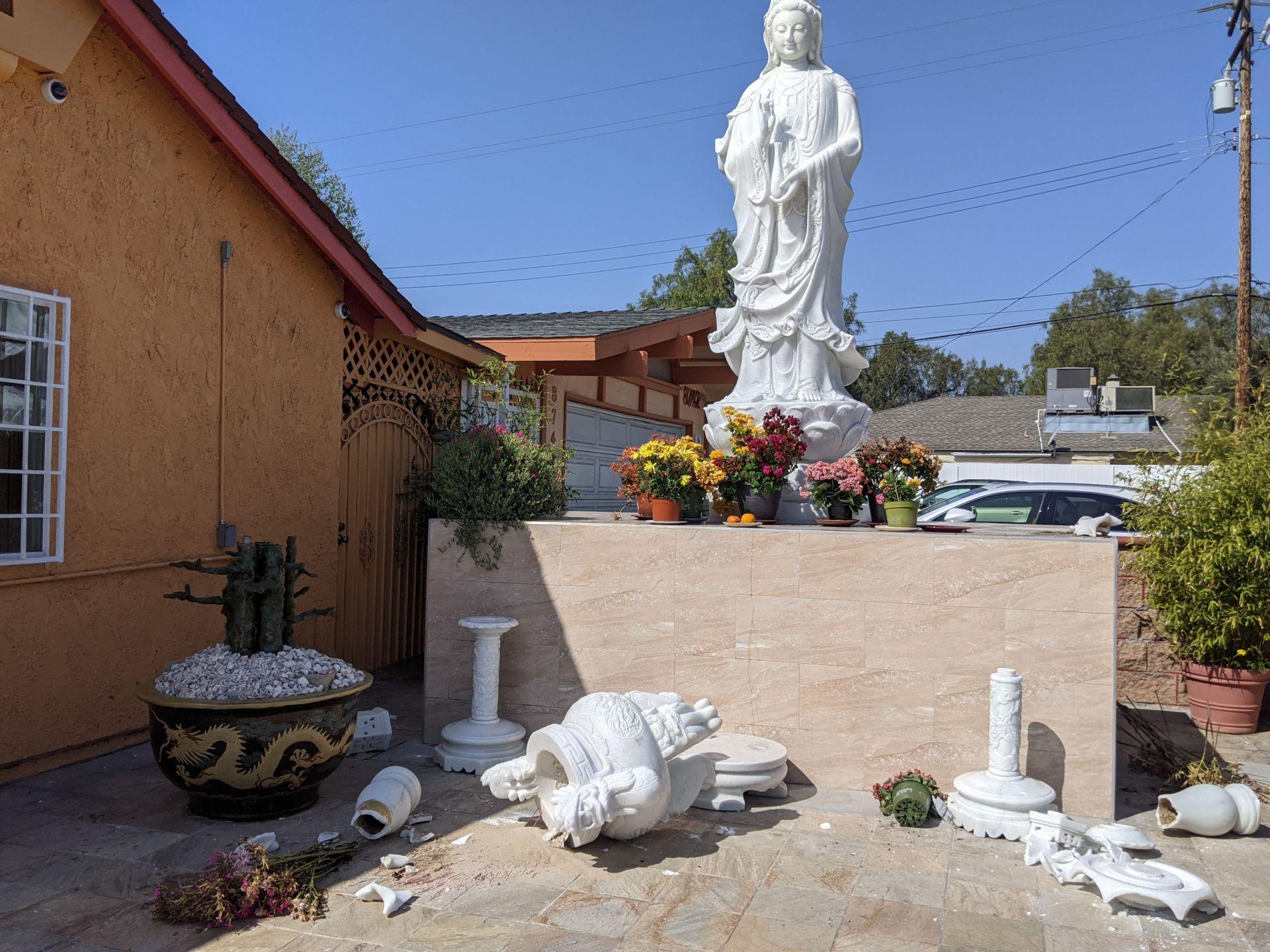 Nhiều chùa ở Little Saigon và Nam California bị trộm và đập phá DP-chua-Nam-CA-Little-Saigon-bi-trom-1