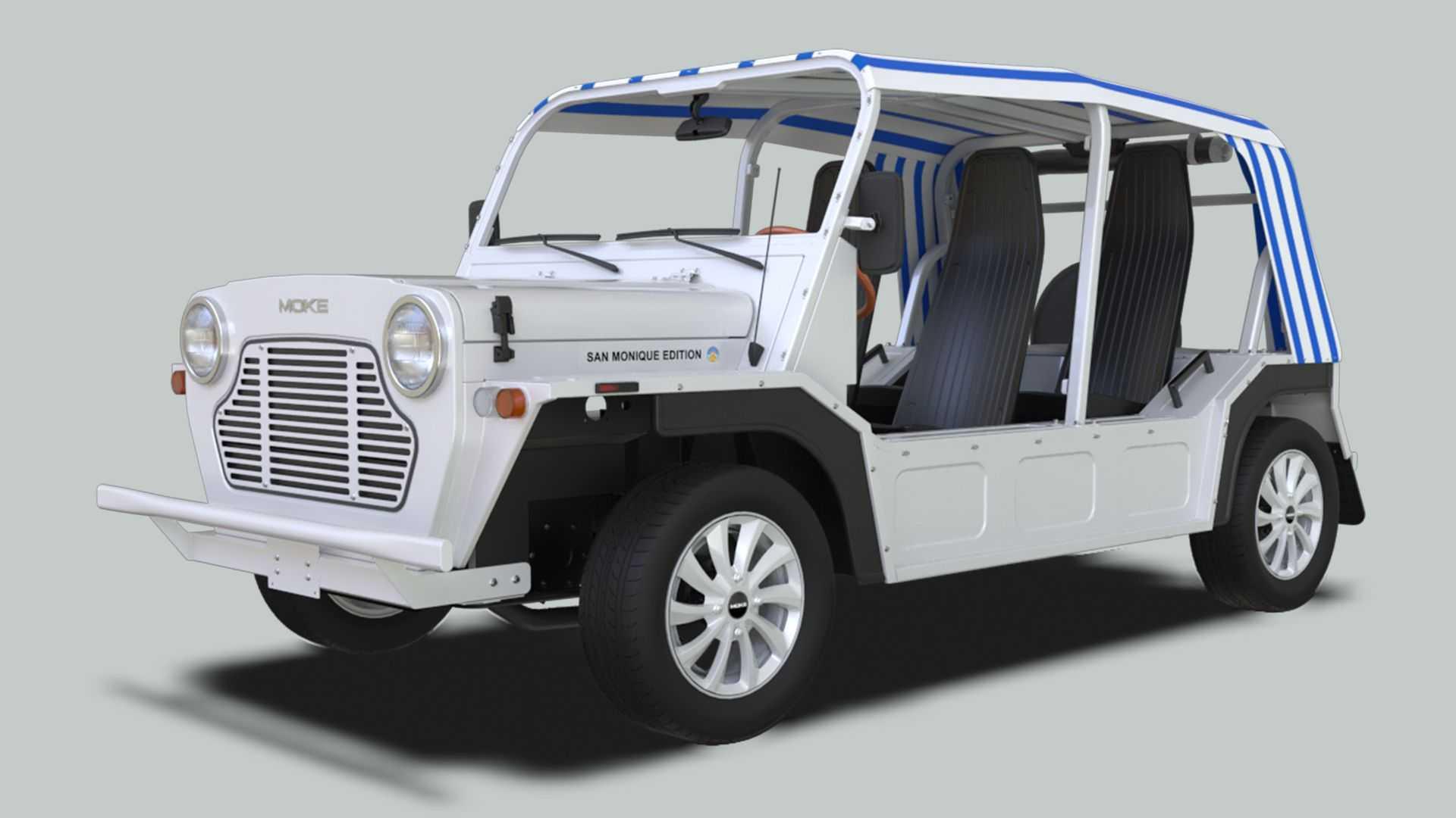 Moke America sản xuất kiểu xe điện giống chiếc James Bond từng lái